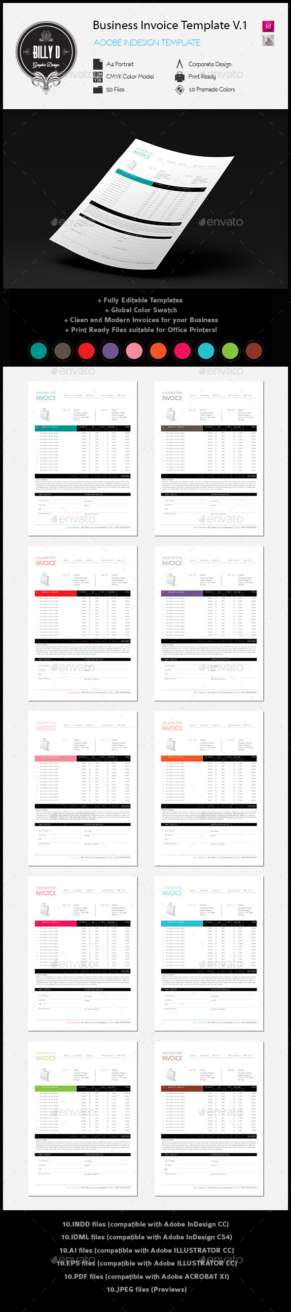 Business Invoice Template | Pinterest