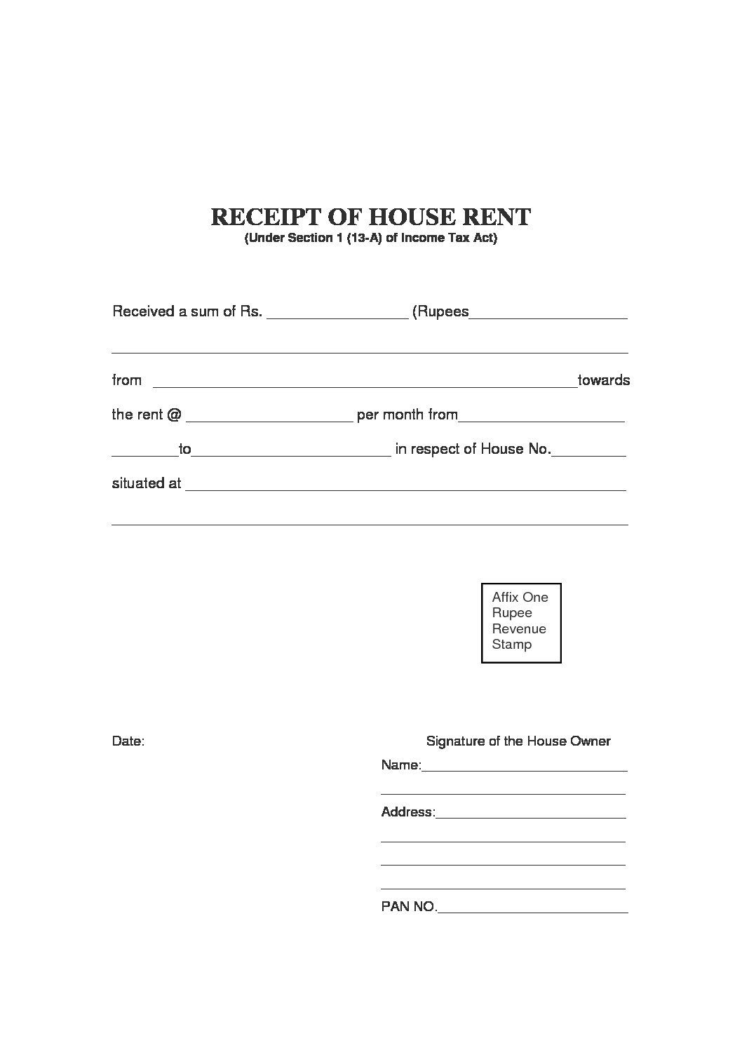 Free Rent Receipt Template And What Information To Include