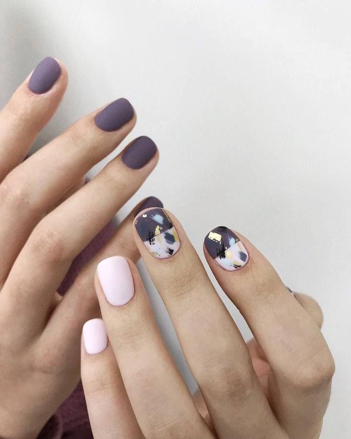 Https Www Belletag Com Media 2019 05 Great Short Nails Design 2 Jpg Lilac Nails Manicure Short Nail Designs