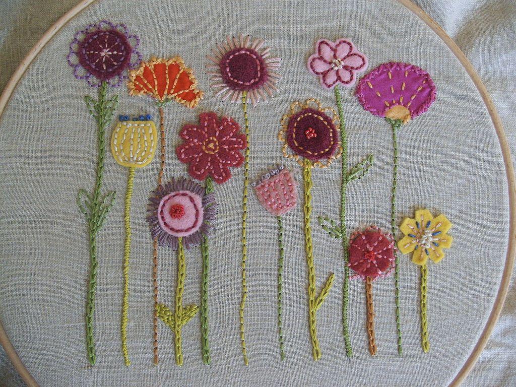 susans flowers2 | Bordado, Flores bordadas y Bordados con hilo