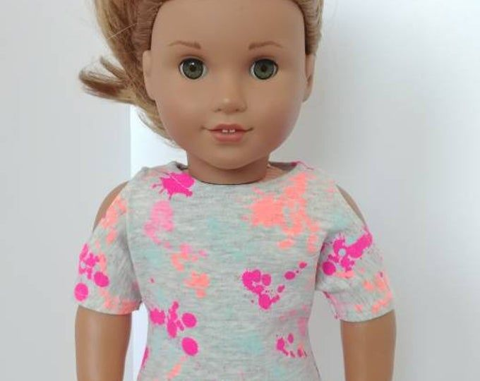 18 inch doll clothes or clothing. Fits like American girl doll clothing . Cranberry floral print dress