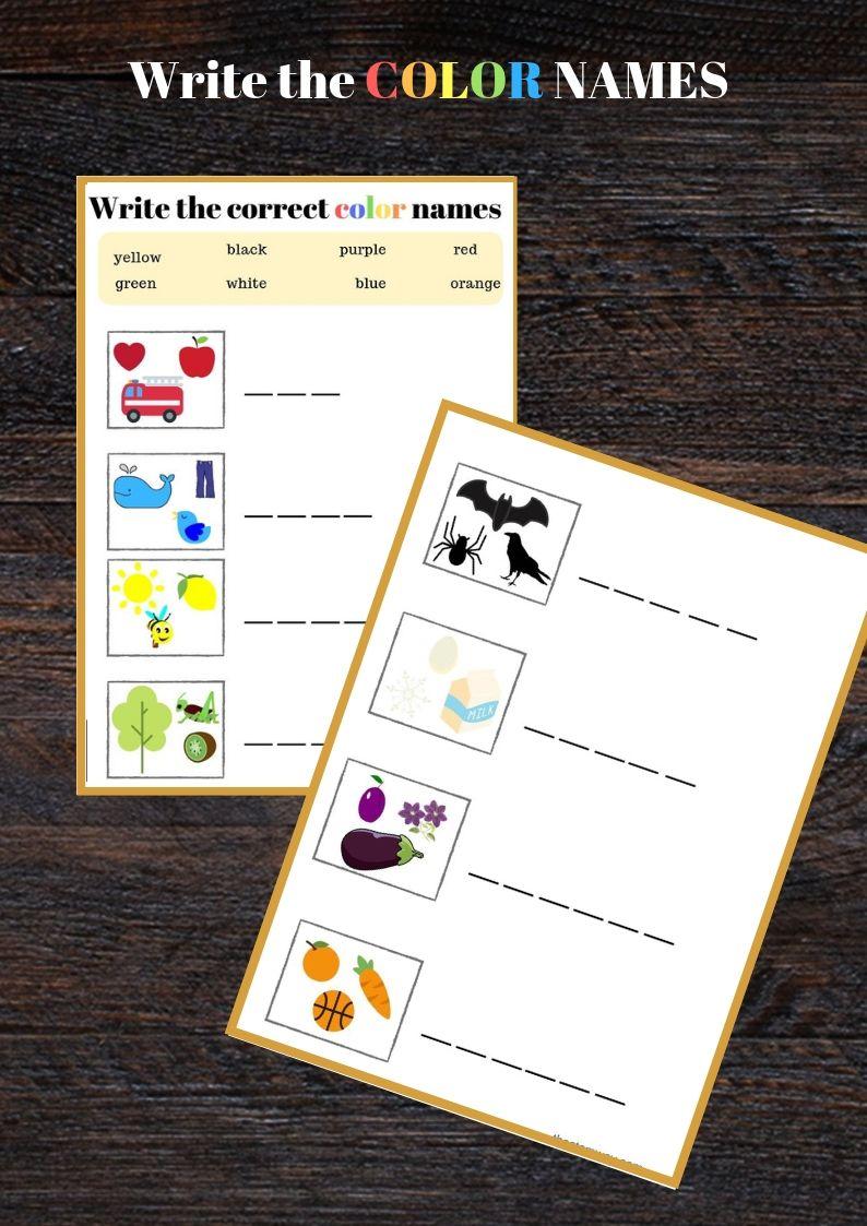 Worksheet:Learn to spell colors   Spelling worksheets ...