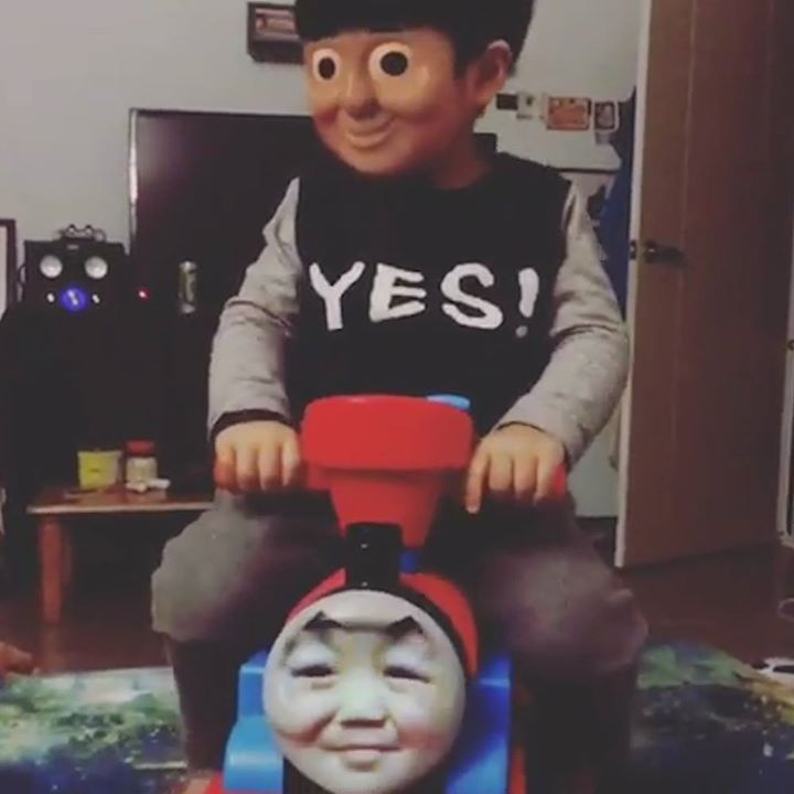 This Thomas The Tank Engine Face Swap Is Creepy Af Face Swaps Thomas The Tank Engine Thomas The Tank