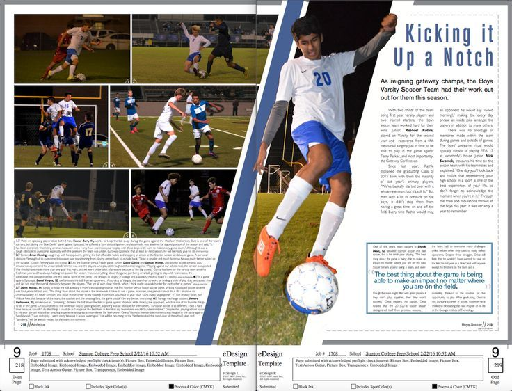 Cool 3D like design for a sports page Makes the page come alive - foot ball square template