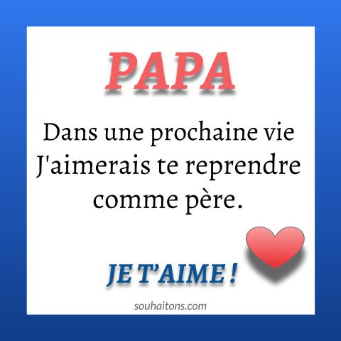 Belle Carte Joyeux Anniversaire Papa Damour Je Taime Mon