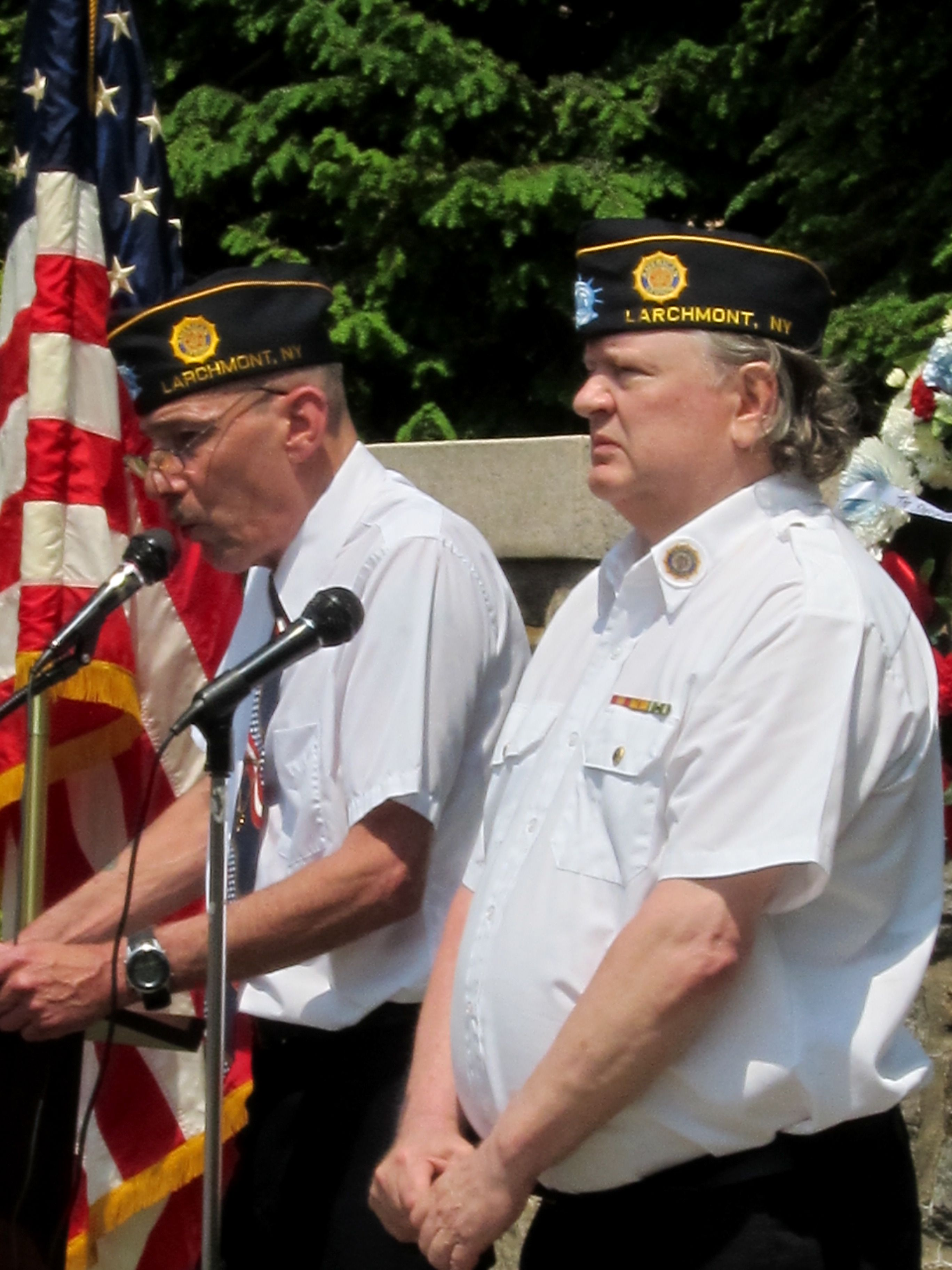 Roll call at the Memorial Day Service
