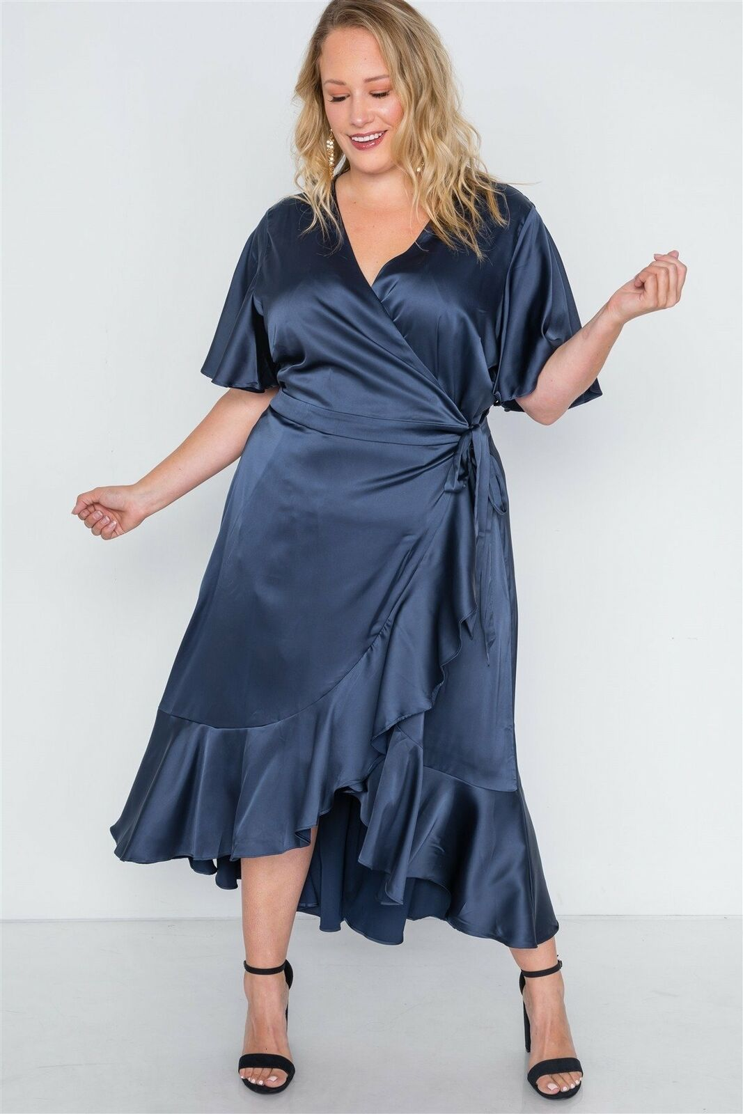 Plus Size Satin Flounce Dress () - Plus Size Dresses - Plus Size Dresses for sales #plussizedresses #dress #fashion -  Plus Size Satin Flounce Dress ()  The post Plus Size Satin Flounce Dress () appeared first on Dress Honey.