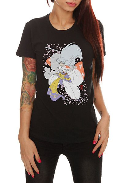 InuYasha Sesshomaru Girls T-Shirt. Again, too lazy to look at the link so,  probably Hot Topic