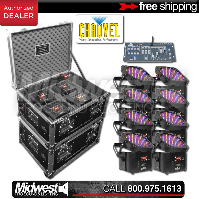 midwest pro sound and lighting chauvet freedom par rgba 8 pack w