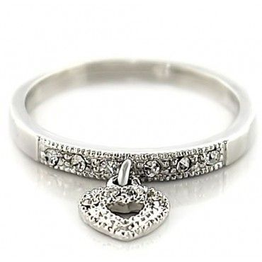 Dangle Heart on a Ring So Cute! Check it Out!