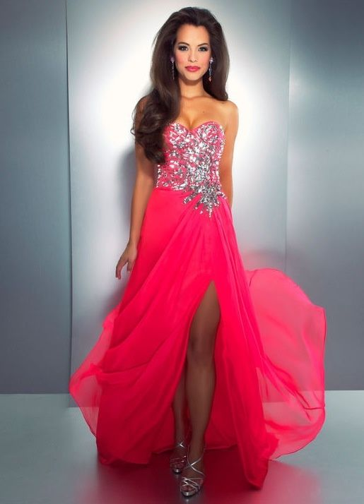 whatgoesgoodwith.com hot pink formal dress (16) #cuteoutfits | All ...