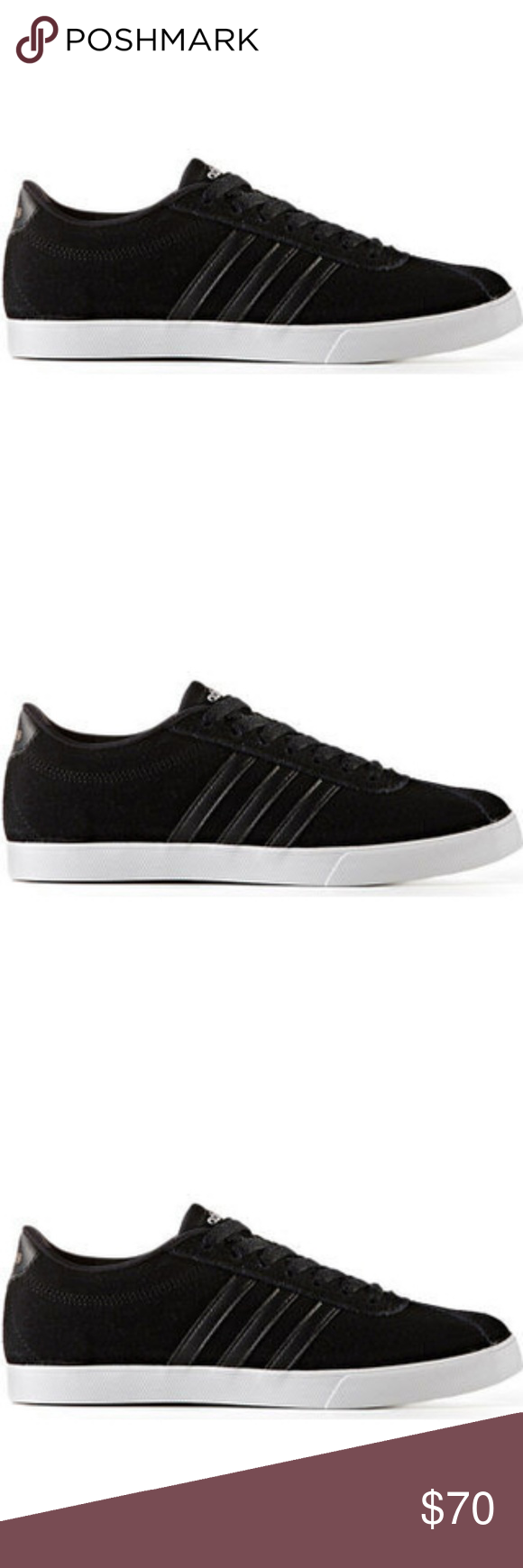 black adidas neo courtset le scarpe di camoscio adidas neo courtset