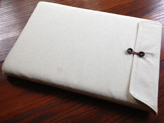 Natural Canvas Padded Laptop Sleeve for Macbook by TypicalSpoon, $40.00