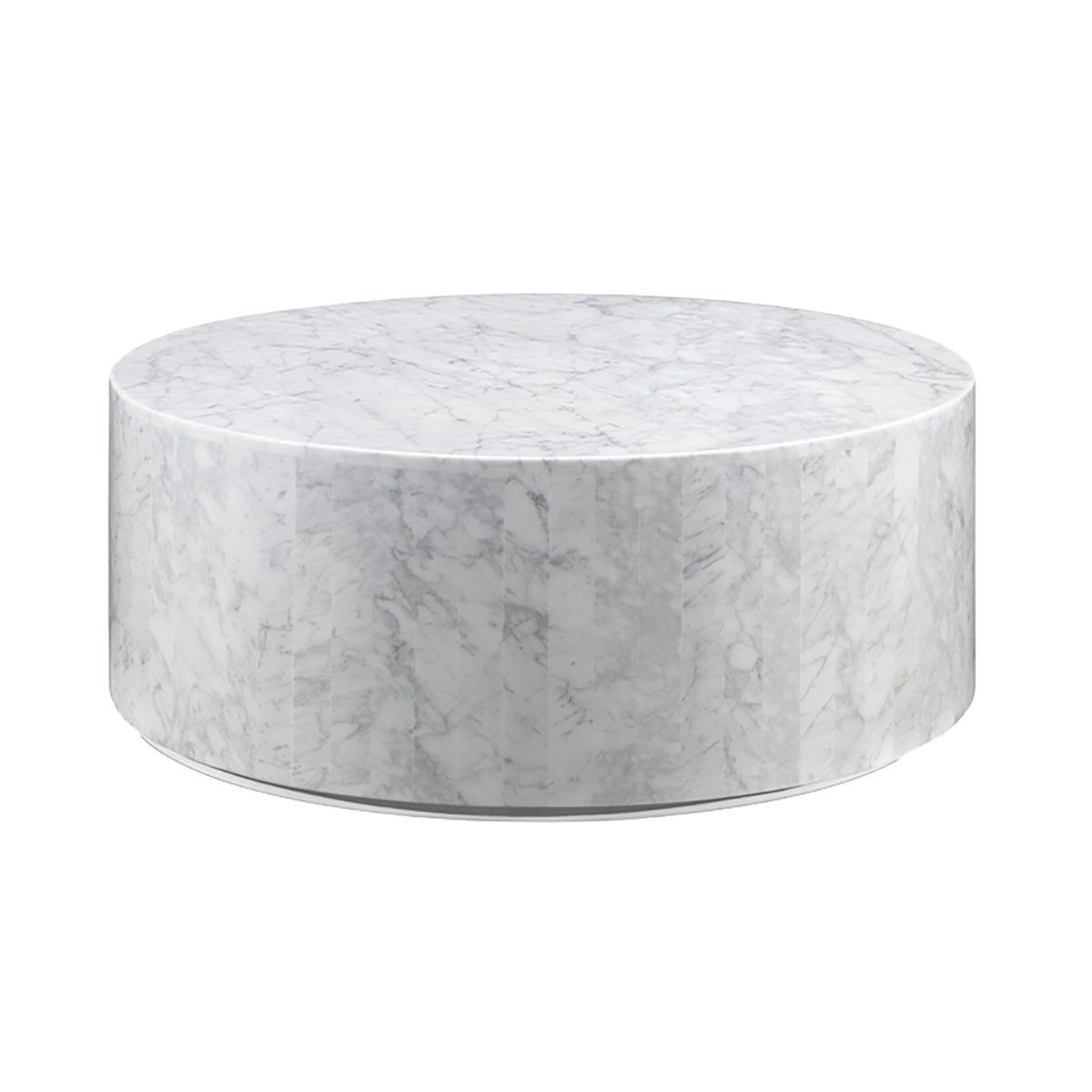 Carrara Marble Drum Coffee Table Drum Coffee Table Mid Century