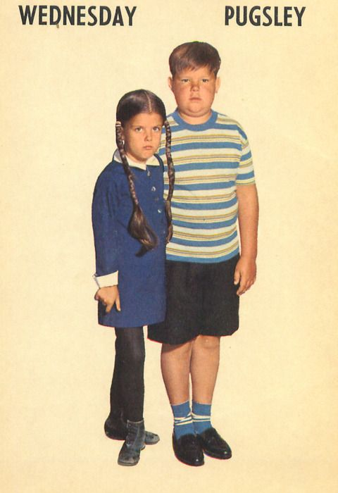 Wednesday And Pugsley Addams Family 1965 Card Game 2767 Addams