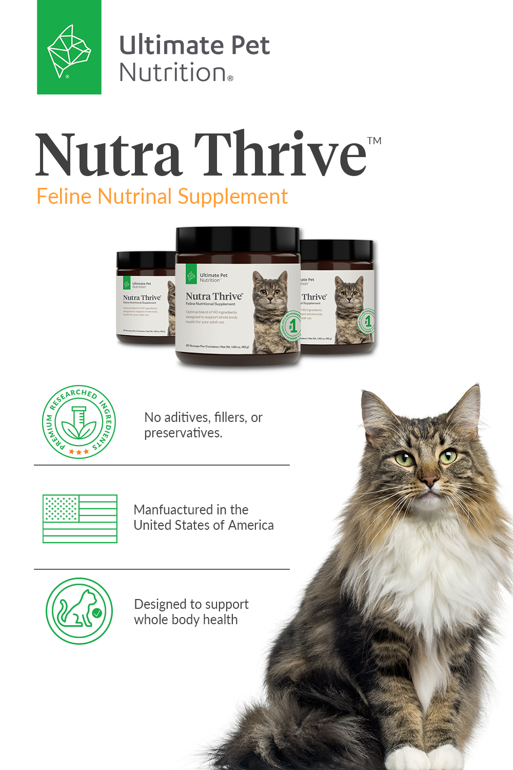 Nutra Thrive Cat Ultimate Pet Nutrition in 2020 Animal