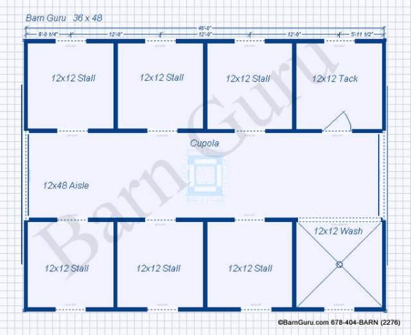 Floor Plan for A Six Stall Horse Barn | the DREAM HOME stuff | Horse