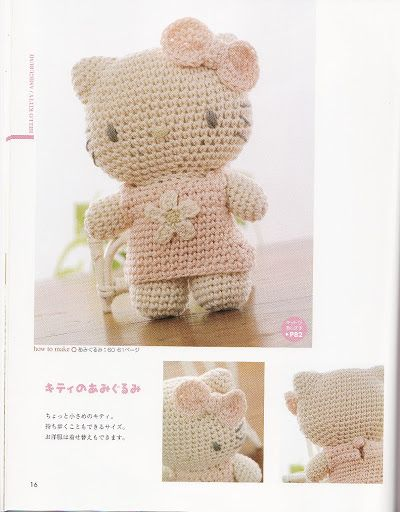 445f29f9f Hello Kitty Amigurumi - FREE Crochet Pattern / Tutorial Teresa Restegui