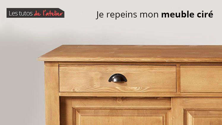 Tuto comment repeindre un meuble ciré - Made in Meubles Trucs - meuble en bois repeint