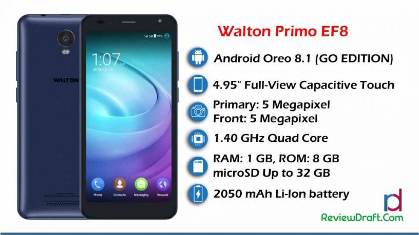 Walton Primo EF8 Price in Bangladesh, Full Specification | Mobile news