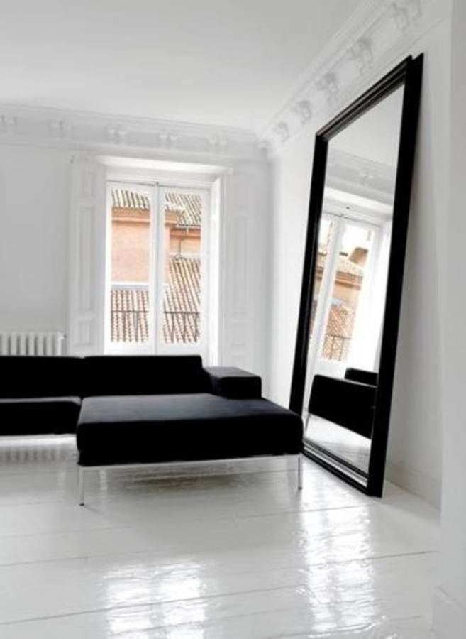 Apply big mirrors for wall and get all advantages for Oversized mirror