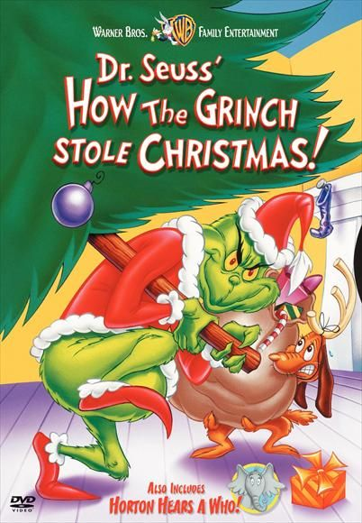 Dvd Cover For How The Grinch Stole Christmas Best Christmas Movies Christmas Movies List Christmas Movies