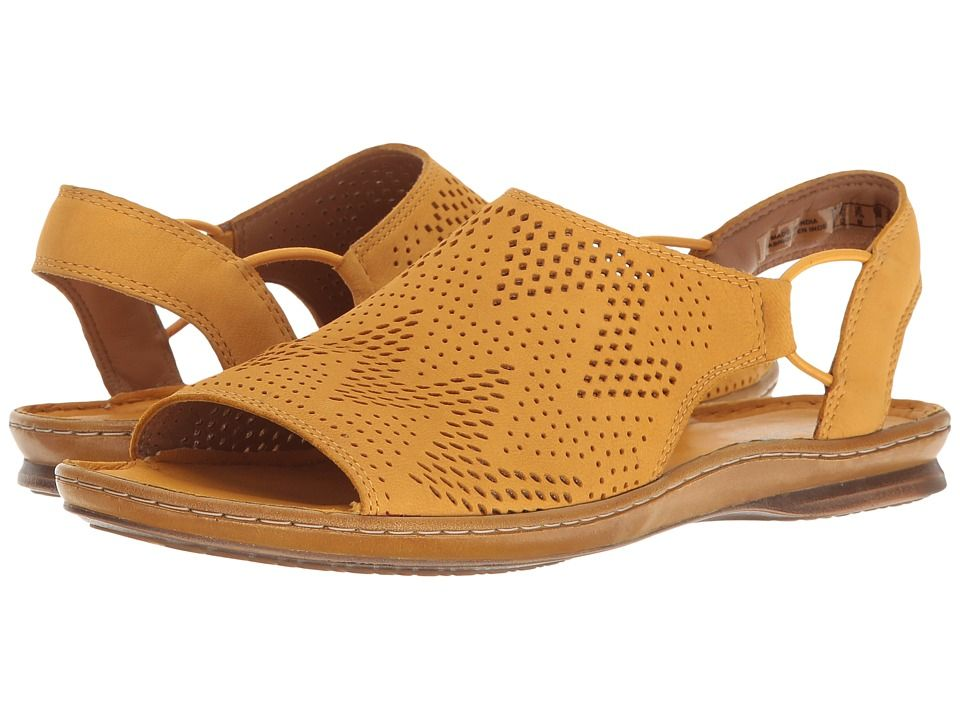 2200a5f0fd3 CLARKS CLARKS - SARLA CADENCE (YELLOW NUBUCK) WOMEN S SANDALS.  clarks   shoes