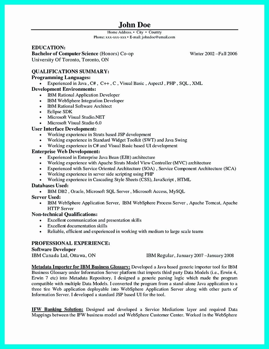 Computer Skills In Resume For Freshers