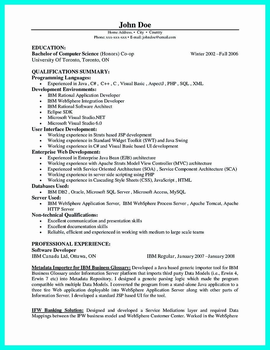 25 Entry Level Computer Programmer Resume in 2020 Best