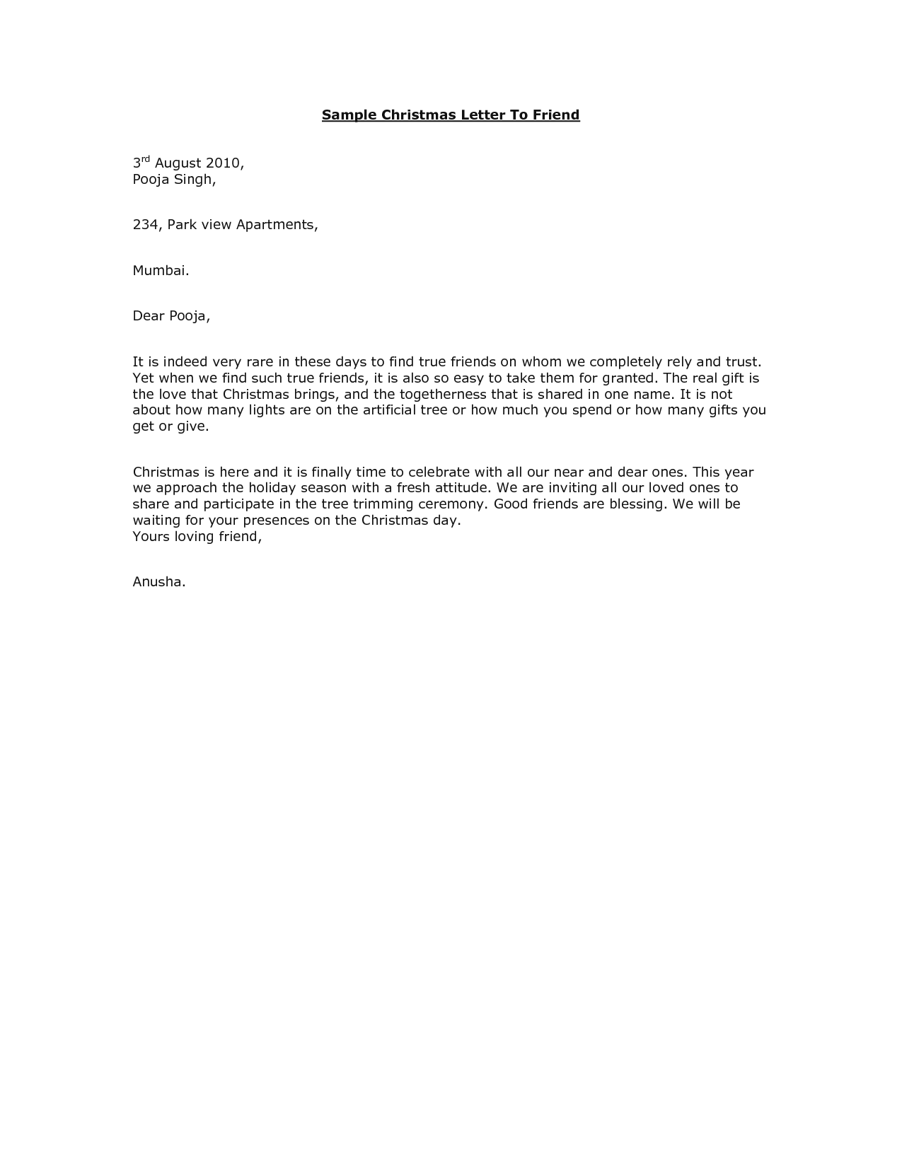 Christmas Letter To Friends merry Christmas messages friends – Christmas Letter Format