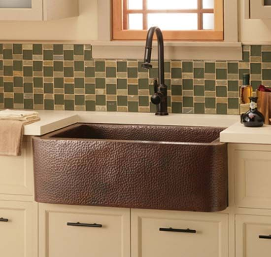 Copper Hammered Farmhouse Kitchen Sink | Farmhouse living ...
