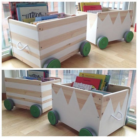 Mommo design ikea hacks with paint flisat toy boxes for Kinderzimmer hacks