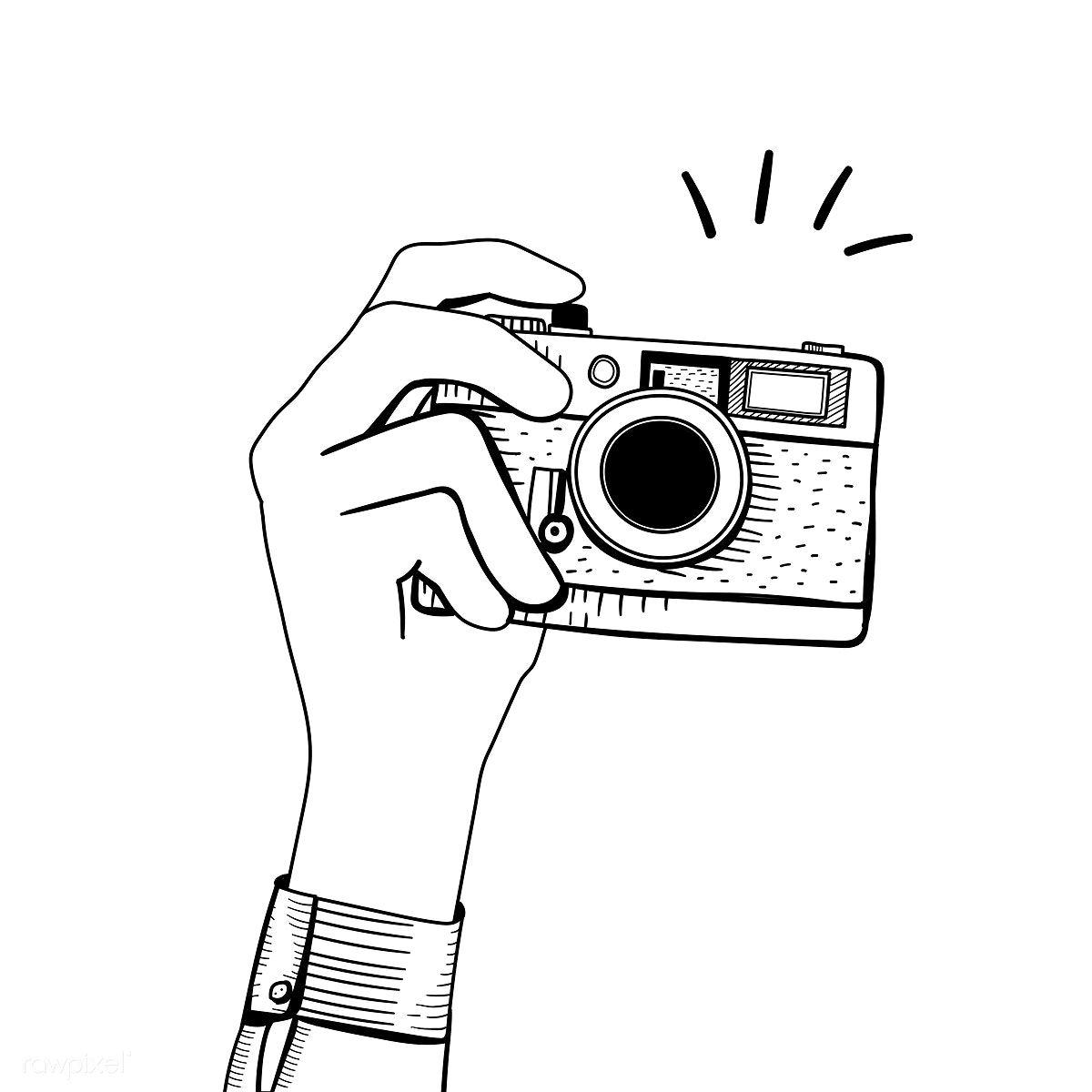 Vector Of Vintage Camera Free Image By Rawpixel Com Busbus Camera Drawing Camera Art Camera Illustration