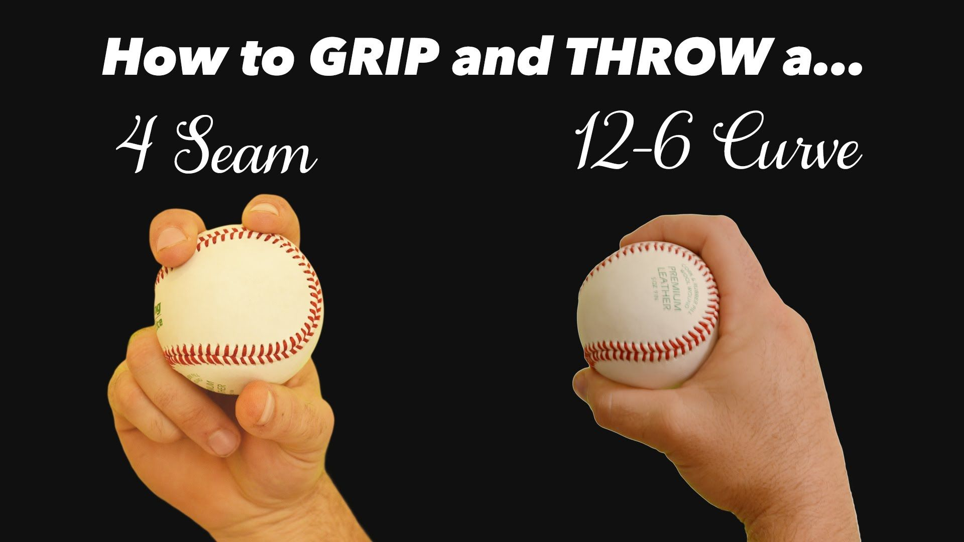 Baseball Pitching Grips How To Throw A 4 Seam Fastball 12 6 Curveball Baseball Pitching Baseball Workouts Baseball Helmet