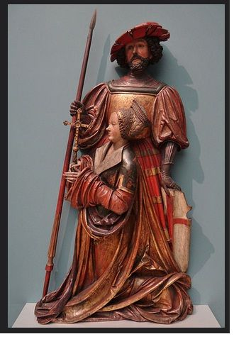 'St. George and St. Margaret' (Hans Thoman), Memmingen, Germanisches Nationalmuseum, Nürnberg, Bayern, Germany. ca. 1515-1520