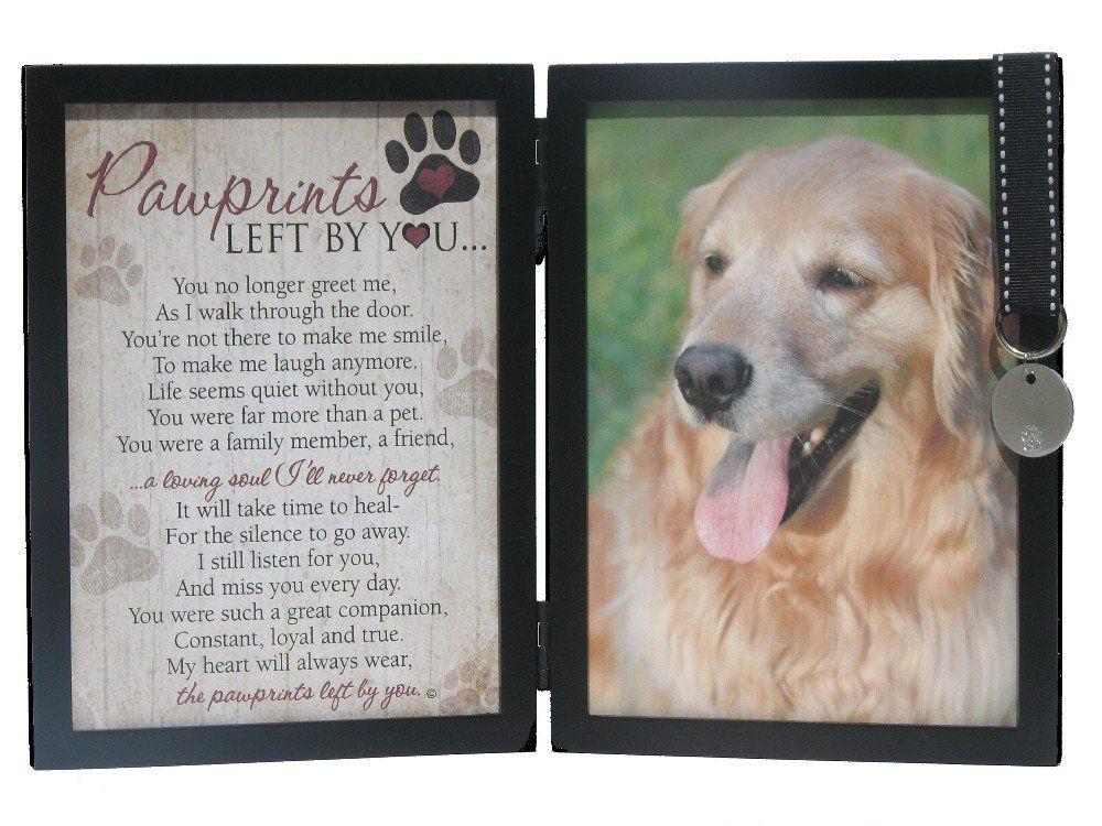 Pawprints memorial pet tag frame pawprints