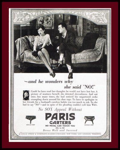 162d1fb5e35e Paris Garters Vintage Men's Socks Advert | MKTG435 - Introduction ...