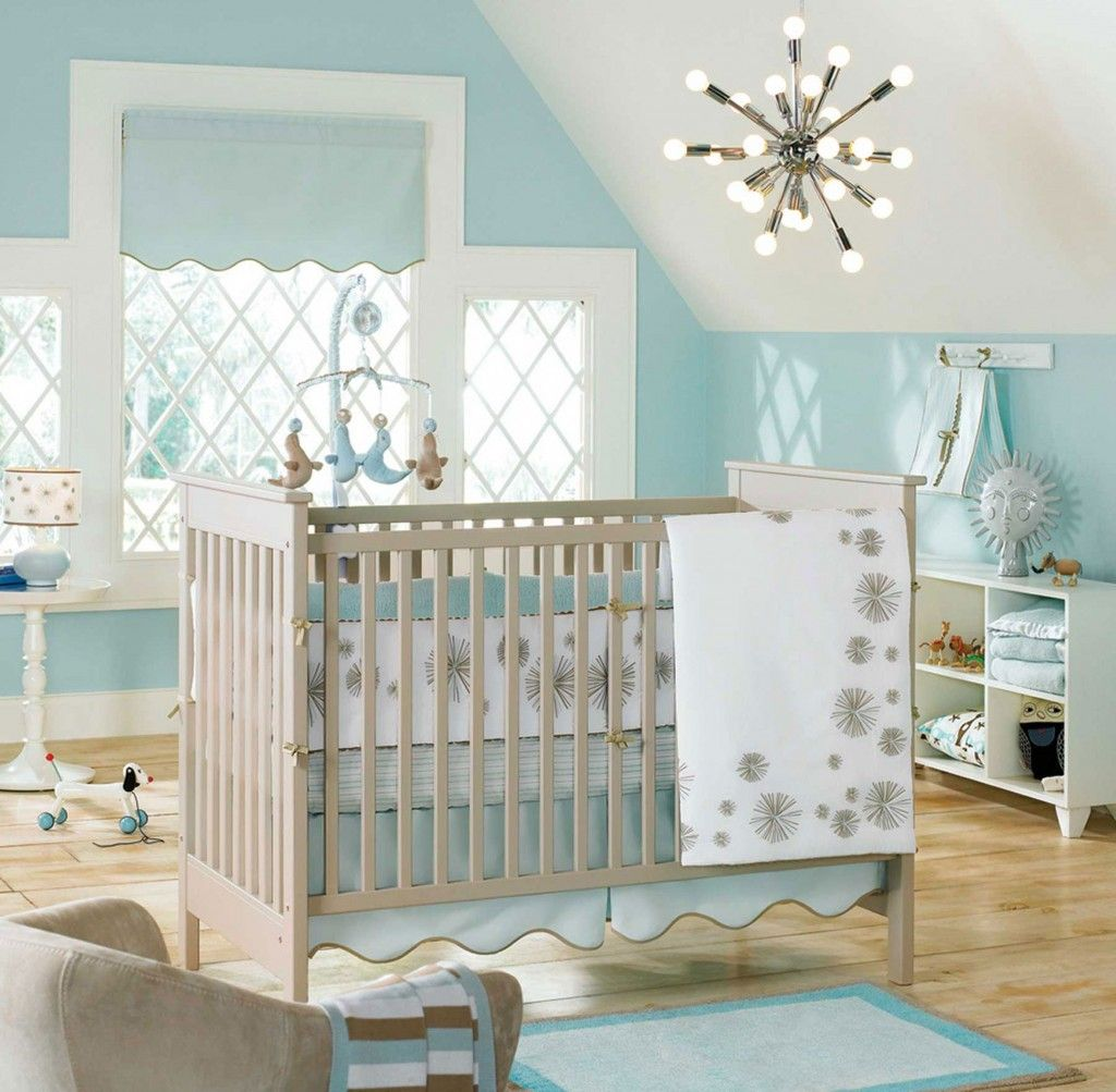 Attractive Baby Nursery: Baby Nursery Minimalist Baby Nursery Decor Light Gray  Convertible Crib With Toddler Rail