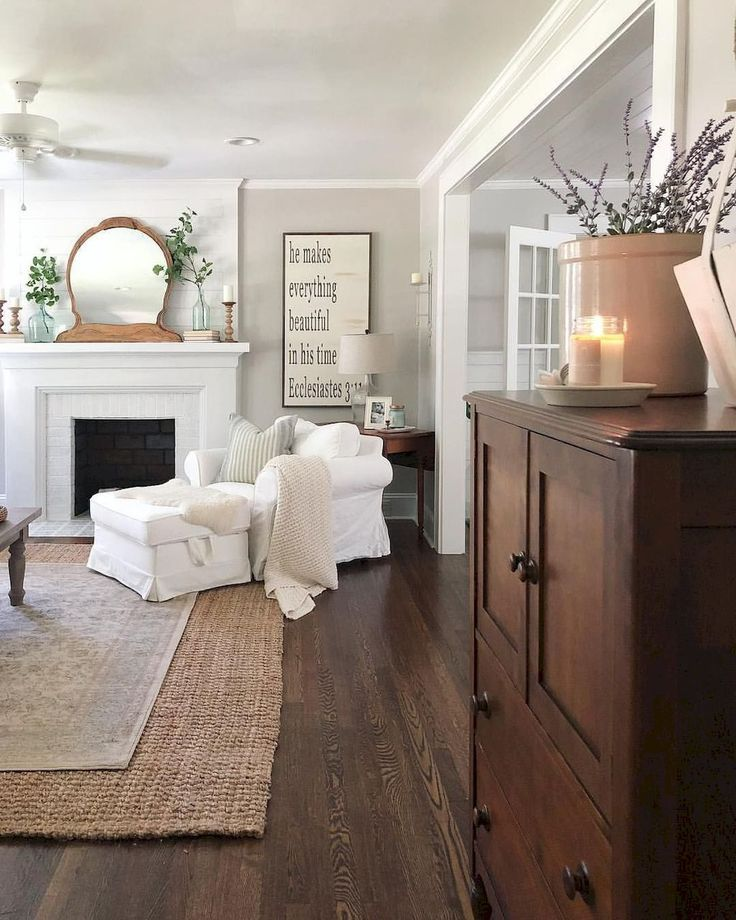 DIY Farmhouse Living Room Decor Part 11 images