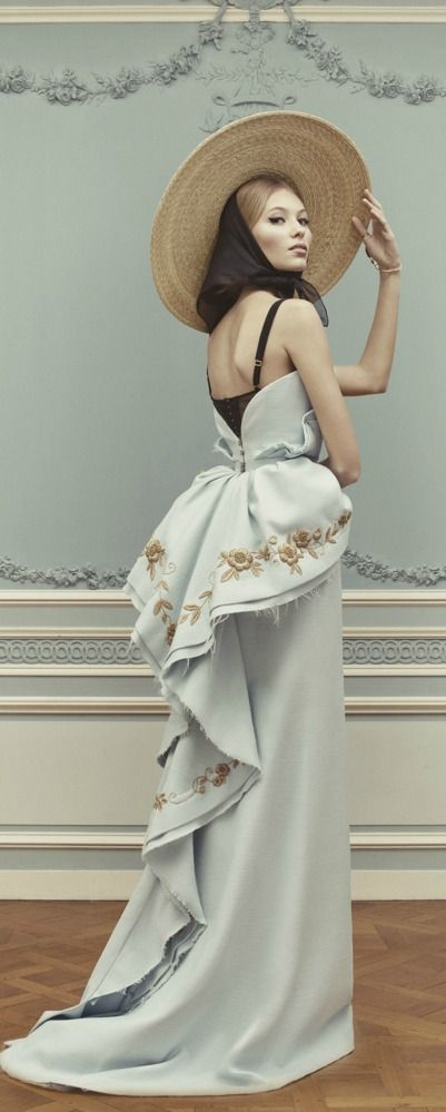 Example of Bustle Period's influence on modern day fashion.  Ulyana Sergeenko Couture SS 2013