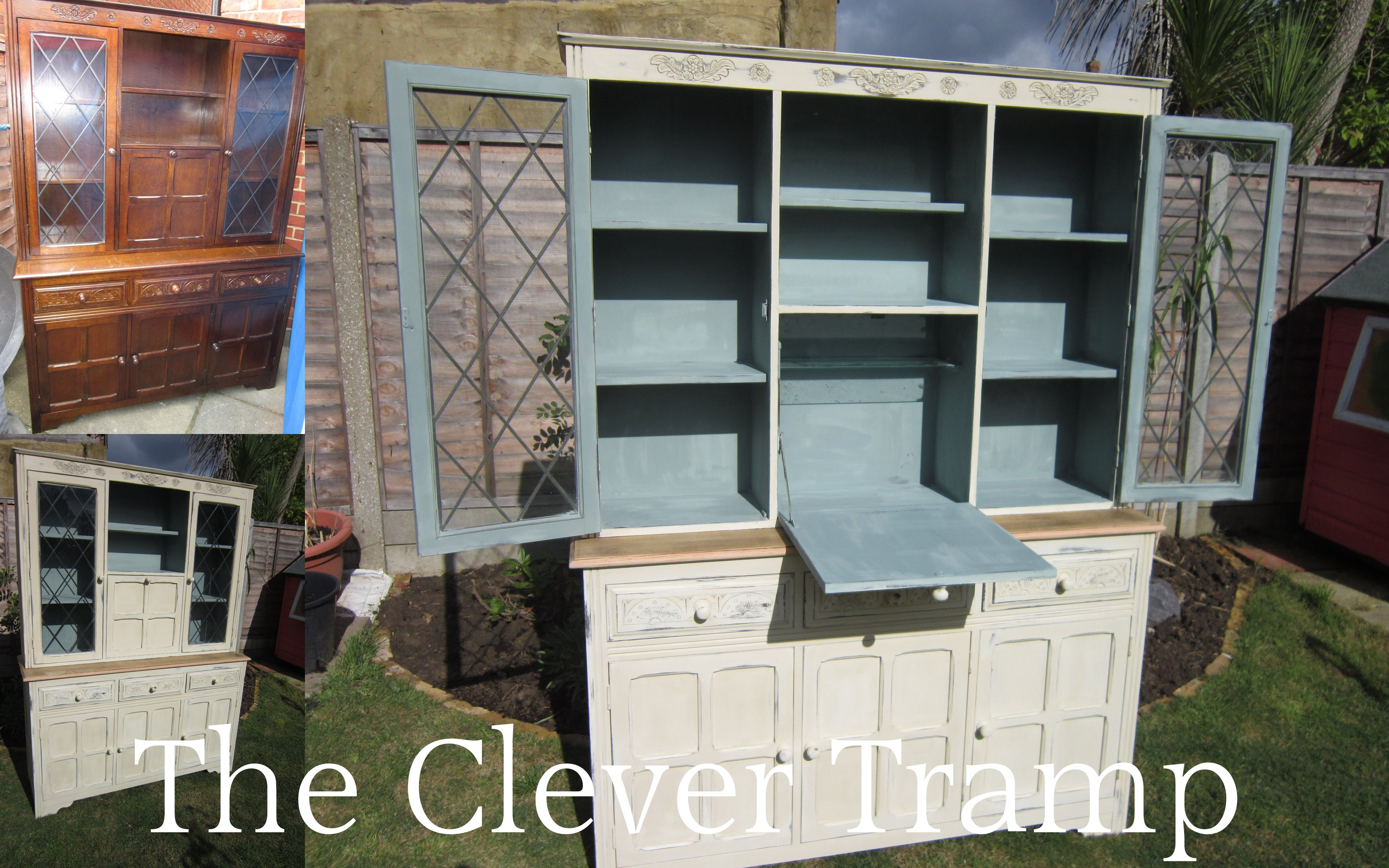 Before & After of a kitchen dresser! Come and join me on my FB page ...