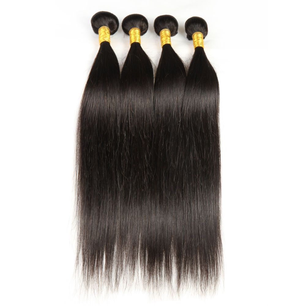4 Bundles Straight Brazilian Human Remy Hair Extensions 200g Weave