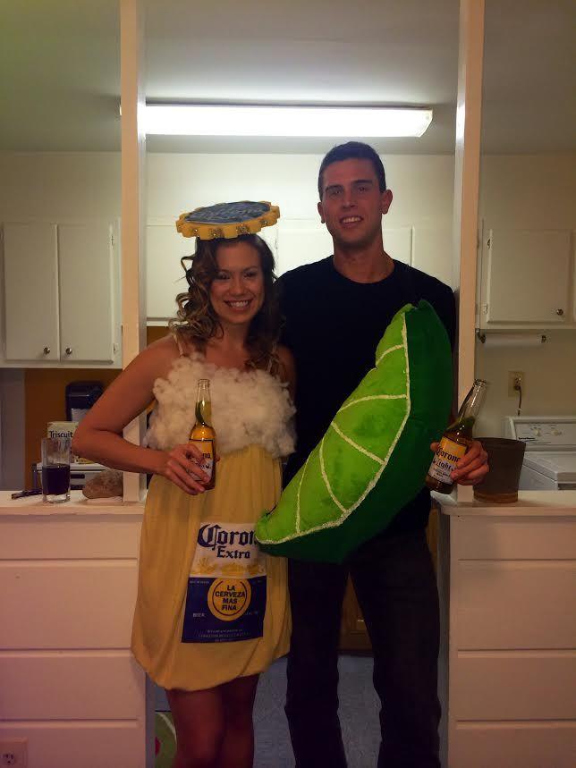 Corona And Lime Couple Costume For Halloween 2015 Clever Halloween Costumes Easy Couple Halloween Costumes Halloween Costumes Diy Couples