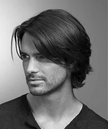Medium Haircuts For Men With Straight Hair