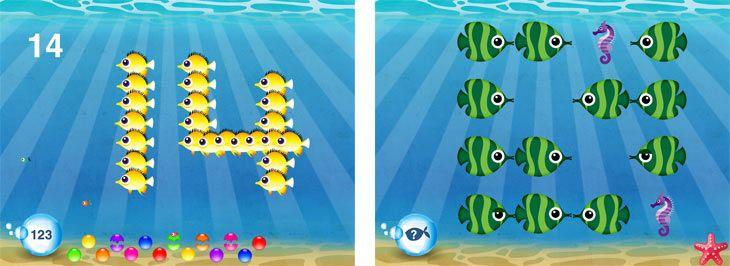 Review Fish School iPad app Parental control apps, App