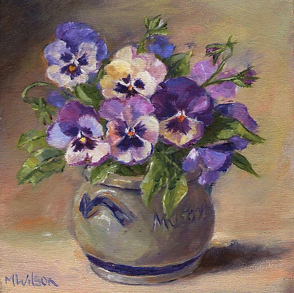 12X16 Original Oil Painting Blue Vase with by BlueAcresArt