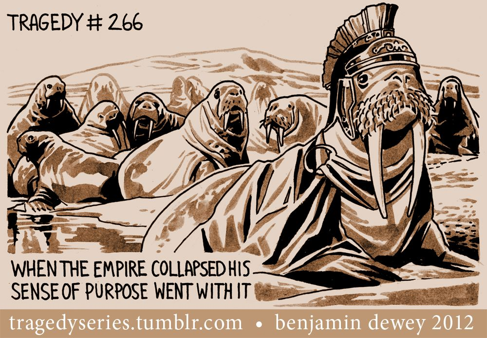There was a time when the mighty Walrus empire spanned much of the arctic before the rise of the polar bear clan These days it is all he can do to keep his helmet clean and his tusks polished