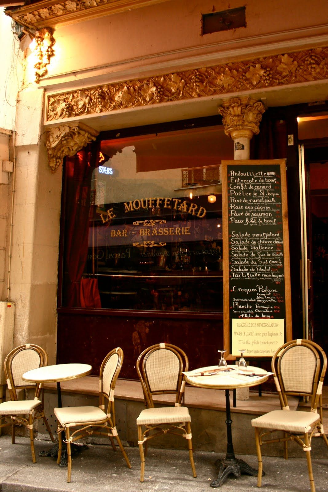 Le Mouffetard via: Paris Through My Lens: Paris cafes | Paris Street ...
