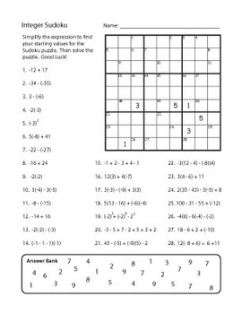 I Originally Designed This Activity For 7th Grade Students As Fun Way To Review Integers It Would Also Work Well For An Alge Integer Review Integers Math Work