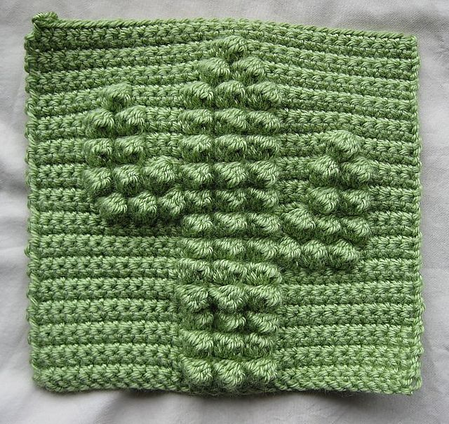 Cactus Bobble Chart By Kari Philpott Crochet Chart Free On Ravelry